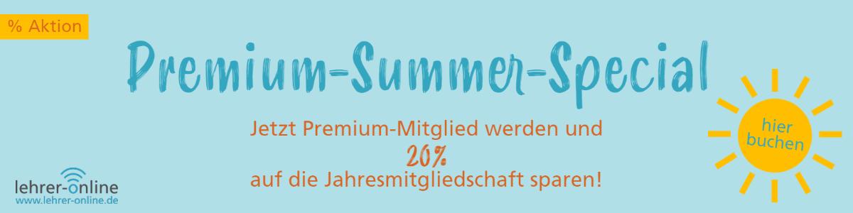 Lehrer-Online Premium-Mitgliedschaft Sommerrabatt