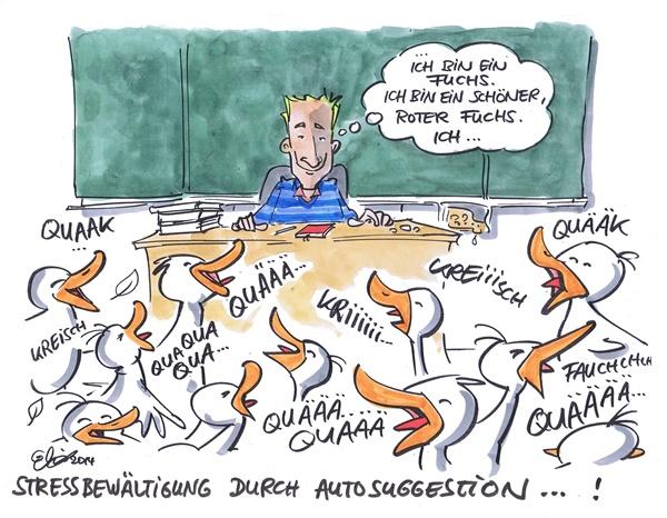 Enten in einem Klassenraum