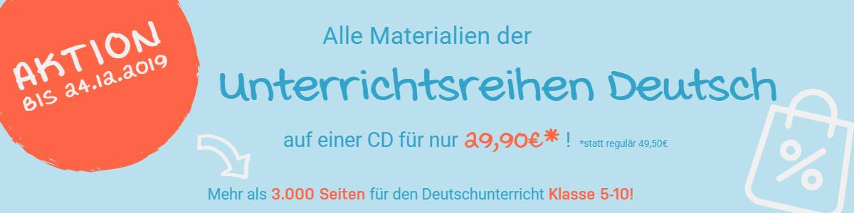 Banner Shop-Aktion Unterrichtsreihen Deutsch