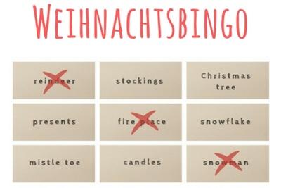 Weihnachtsbingo Adventskalender