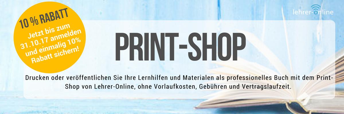 Print-Shop Lehrer Online