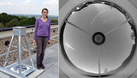 Sophia Haude mit ihrer Meteorkamera