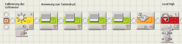 Screenshot der Programmieroberfläche