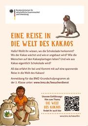 Plakat Besucherdienst: Eine Reise in die Welt des Kakaos