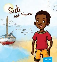 """Titelbild des Heftes """"Sidi hat Ferien""""; afrikanischer Junge am Meer"""