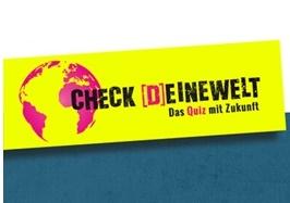"""Startseite des Online-Quizzes """"Check deine Welt"""""""