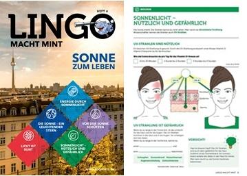 Lingo MINT Sonne samt Beispiel-Arbeitsblatt