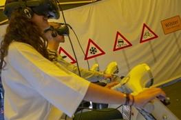 Simulation VR-Brille Straßenverkehr