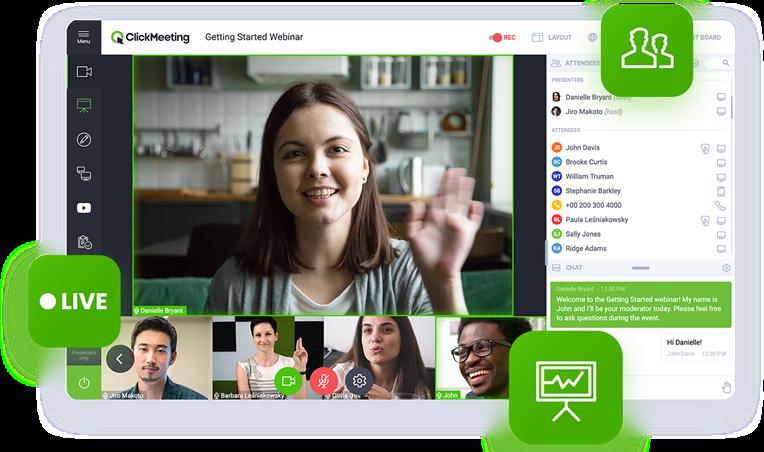 Ausschnitt einer Videokonferenz mit ClickMeeting