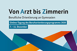 """Logo der Veranstaltung """"Berufliche Orientierung am Gymnasium"""""""