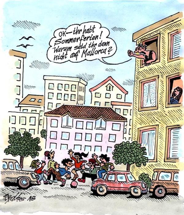 Cartoon Mallorca von Peter Baldus
