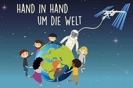 """Das Logo des DLR-Projekts """"Hand in Hand um die Welt"""""""