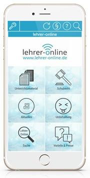 Smartphone mit dem Lehrer-Online-Kanal in Notyz