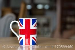 Tasse mit Flagge von Großbritannien