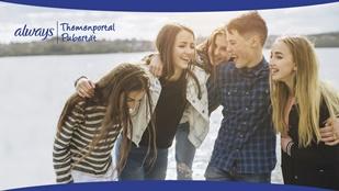 Jugendliche, Logo des Themenportals Pubertät