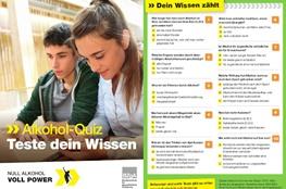 Quiz für Jugendliche zum Thema Alkohol