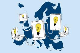 Europakarte, vernetzte Online-Partnerschaften