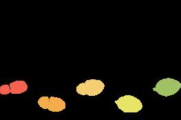 """Logo """"Einfach machen"""" mit bunten Fußspuren"""