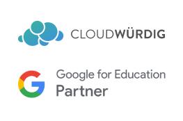 logo von cloudwürdig und google