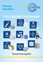 verschiedene Chemikalien und Reagenzien, Logo, 123 Chemie