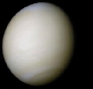 Venus, fotografiert von der US-Sonde Mariner 10 (NASA)