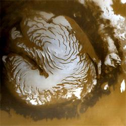 Nördliche Polkappe des Mars (NASA)