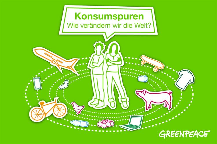 Digitales Bildungsmaterial Greenpeace: Konsumspuren