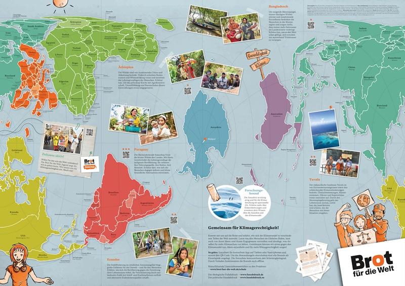 Weltkarte Klimagerechtigkeit von Brot für die Welt