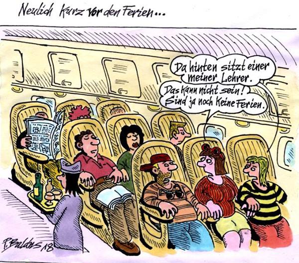 Schülerin mit ihrer Familie und Lehrer im Flugzeug