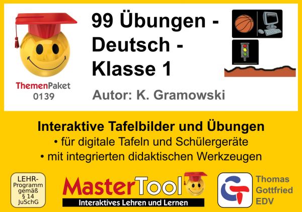 MasterTool - 99 Übungen - Deutsch - Klasse 1 (TP 139)