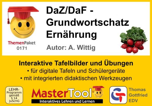 MasterTool - DaZ/DaF - Grundwortschatz Ernährung (TP 171)