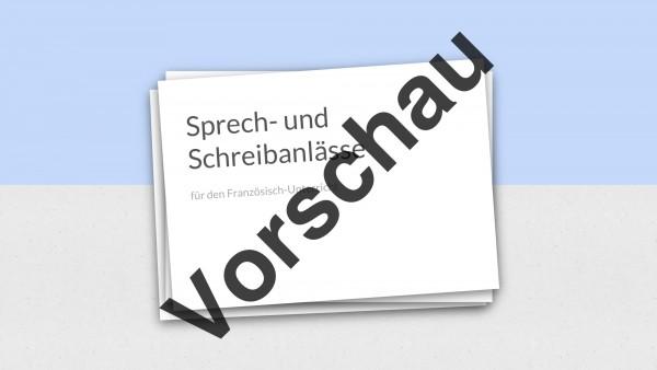 Präsentation mit 66 Folien: Sprech- und Schreibanlässe für den Französischunterricht