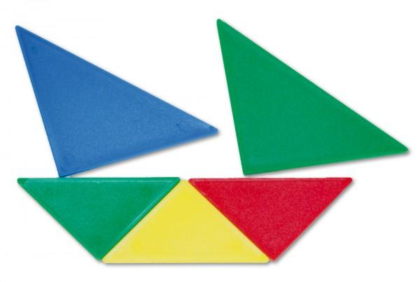 Tangram aus Kunststoff opak, 28-tlg. = 4 Tangrame in Box