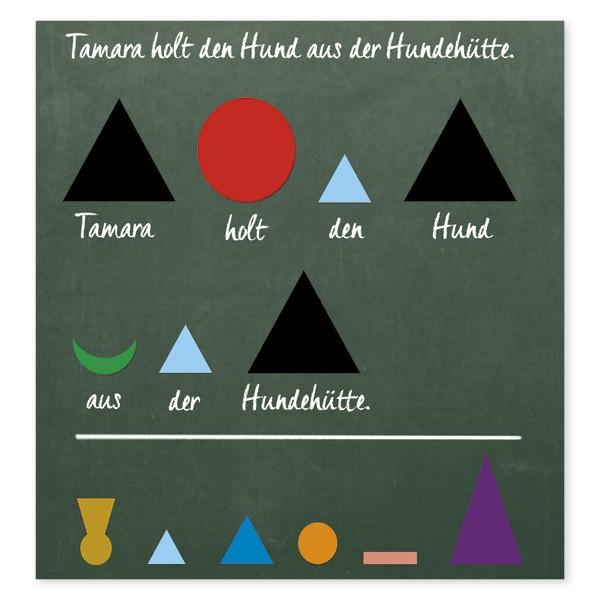 Wortarten-Symbole, magnetisch, 60-tlg.