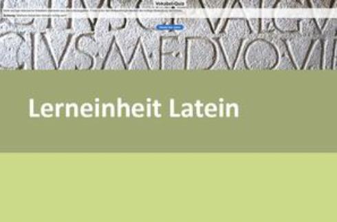 Interaktive Lerneinheit Latein 5 – Die a-Konjugation