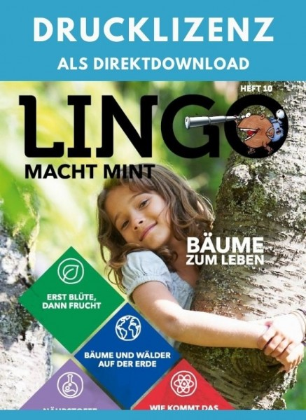 Lingo macht MINT Drucklizenz 10 Bäume zum Leben