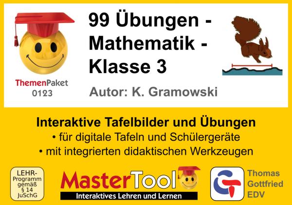MasterTool - 99 Übungen - Mathematik - Klasse 3 (TP 123)