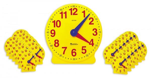 Lern-Uhren-Satz 1-12 mit drehbaren Minutenzeiger