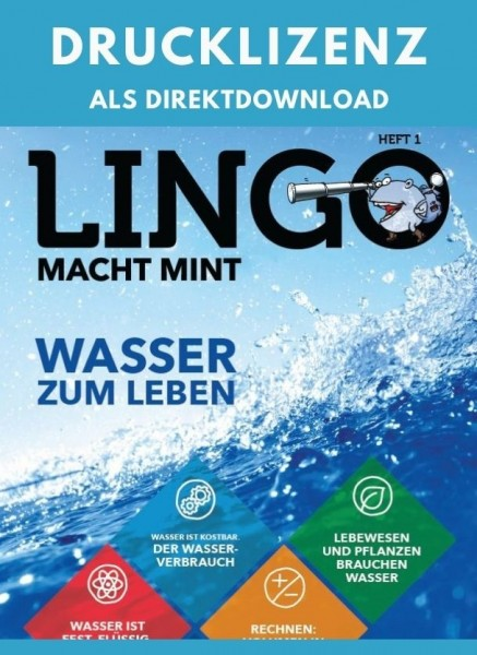 Lingo macht MINT Drucklizenz 1 Wasser