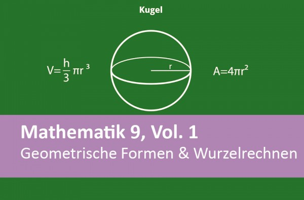 Interaktives Arbeitsheft Mathematik Geometrische Formen u. Wurzel 9.