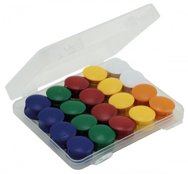 Set Haft-Magnete 27 mm ø in Box, 40-tlg.
