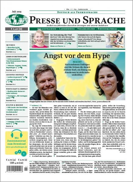 Presse und Sprache Jahresabo PRINT (12 Ausgaben im Jahr)