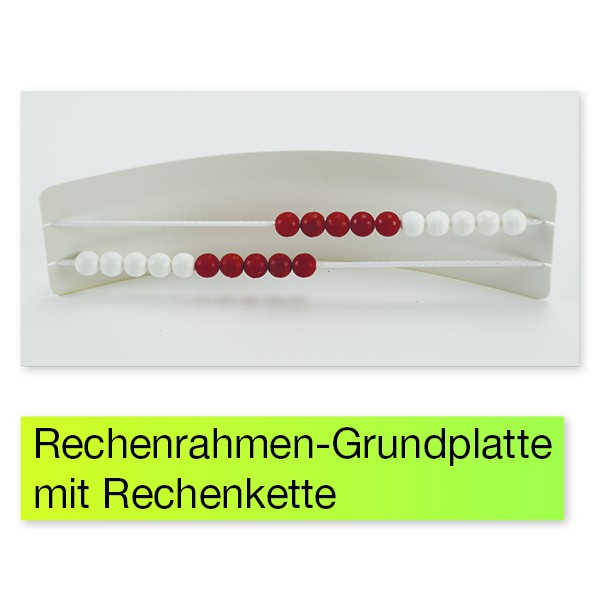 Mathe-Basis-Set Plus ZR 20, 58-tlg, in Box, rot/weiß