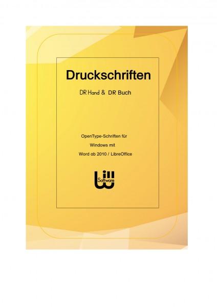 Druckschrift DR Version Hand und Buch (für Windows)
