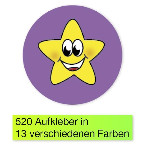 """Belobigungs-Aufkleber """"Sternchen bunt"""", 520 Stk."""