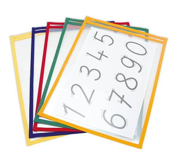 Lern- und Sammeltaschen A4-Plus mit Farbeinfassung, 10-tlg.