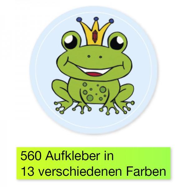 """Belobigungs-Aufkleber """"Froschkönig"""", 560 Stk., 19 mm ø"""