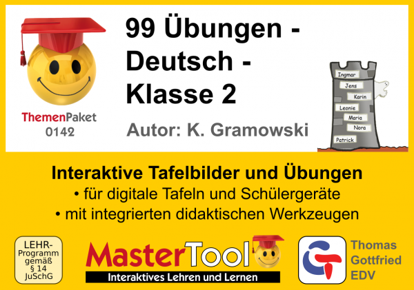 MasterTool - 99 Übungen - Deutsch - Klasse 2 (TP 142)