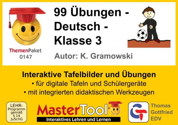 MasterTool - 99 Übungen - Deutsch - Klasse 3 (TP 147)