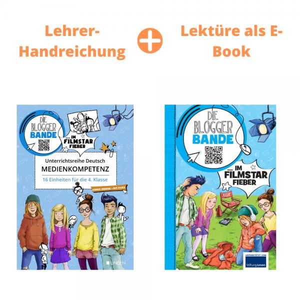 """Unterrichtsreihe Medienkompetenz + E-Book """"Die Bloggerbande im Filmstar-Fieber"""""""